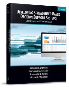 table of contents developing spreadsheet based decision support systems